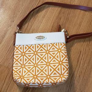 Spartina 449 Crossbody Bag, Orange Canvas Print